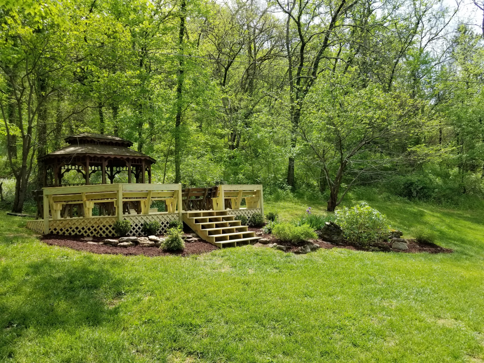 Gazebo with extended deck added in 2018