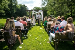 Ceremony at the arch