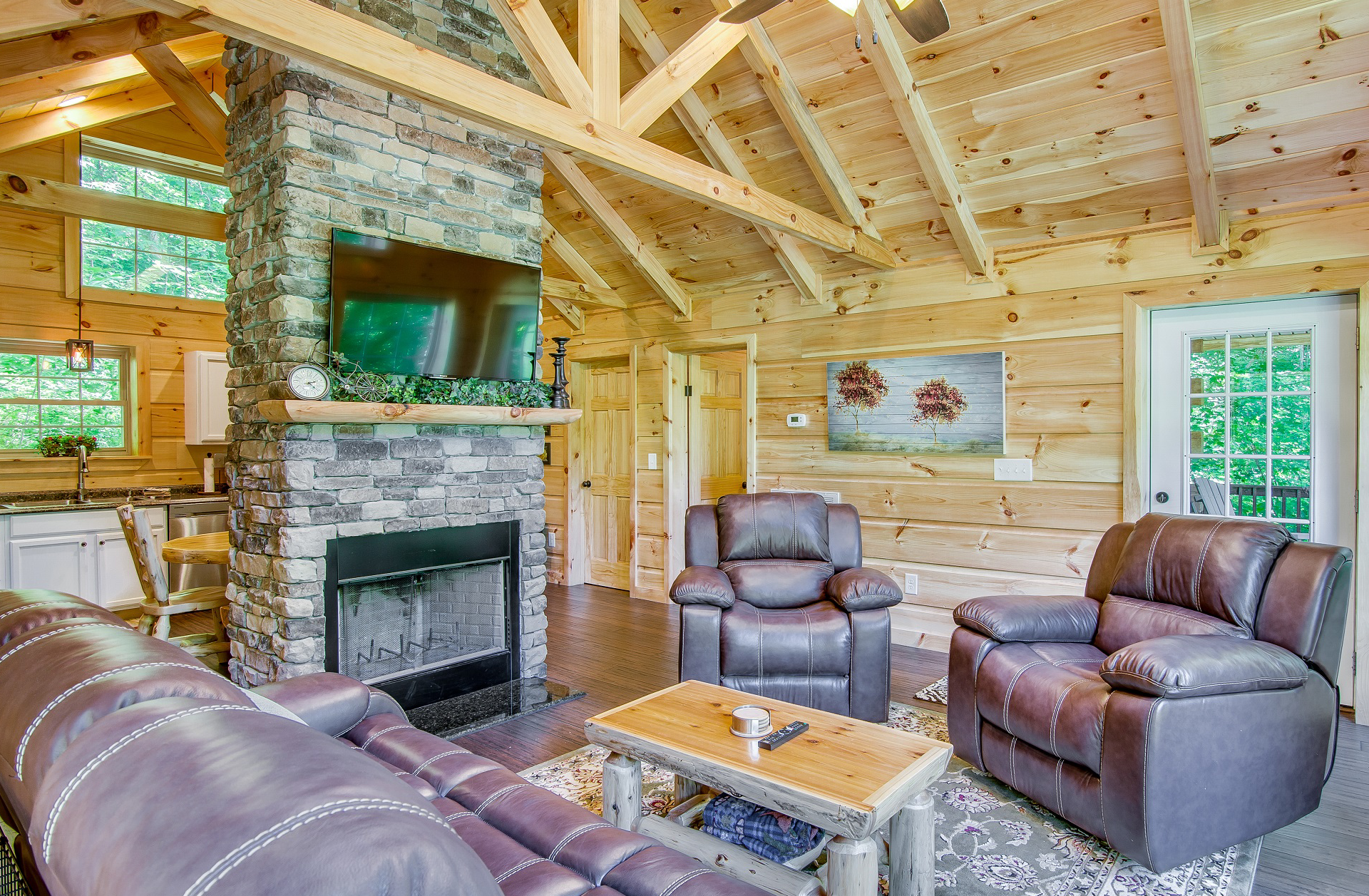 Log Cabin Sitting Area